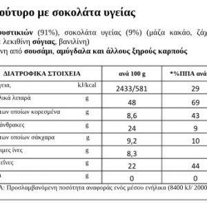 Φυστικοβούτυρο με Σοκολάτα ΒΗΡΑ 250γρ 100% Ελληνικό