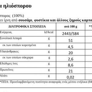 Πάστα Ηλιόσπορου ΒΗΡΑ 230γρ 100% Ελληνική