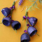 Σκουλαρίκια καμπανάκια από κουκούλι 2
