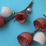 Σκουλαρίκια καμπανάκια από κουκούλι 4