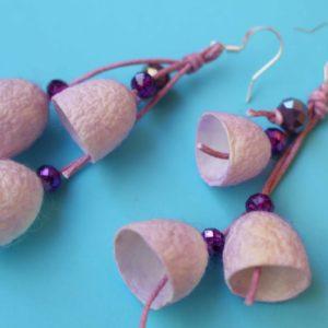 Σκουλαρίκια καμπανάκια από κουκούλι 6