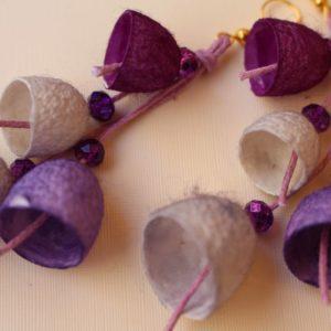 Σκουλαρίκια καμπανάκια από κουκούλι 7