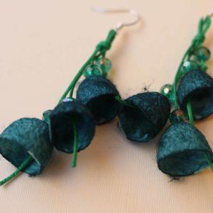 Σκουλαρίκια καμπανάκια από κουκούλι 9