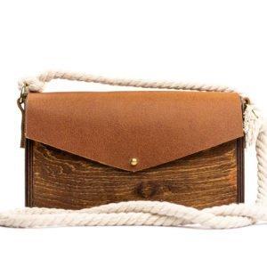 Χειροποίητη ξύλινη τσάντα Navy Bag- R&M