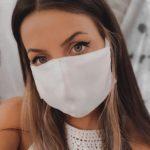 Μάσκα μεταξωτή επαναχρησιμοποιούμενη από διπλό ύφασμα crepe de chine 100% Σουφλιώτικο μετάξι