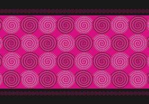 Mεταξωτό χειροποίητο ροζ μαντίλι 170εκ. Χ 45εκ.