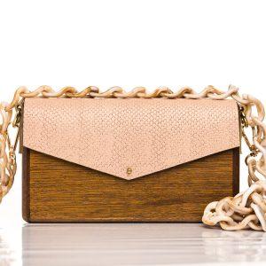 Χειροποίητη ξύλινη τσάντα Ισμήνη - R&M