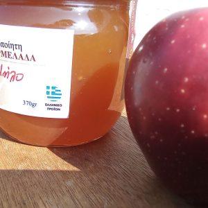 """Χειροποίητη μαρμελάδα Μήλο """"Θεράπειον"""" 370γρ"""