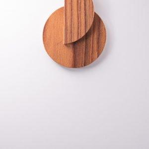 Γεωμετρικό ξύλινο σκουλαρίκι - R&M
