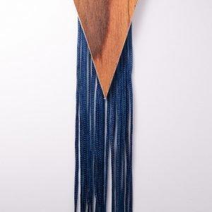 Τρίγωνο ξύλινο σκουλαρίκι - R&M